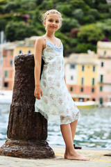 Portrait of fashion girl - Portofino, Italy