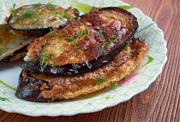 cotolette di melanzane  - Italian appetizer with eggplant