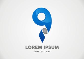 Logo Location Pin map symbol vector design template
