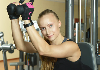 woman workout at gym