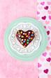 Delicious rainbow mini cake