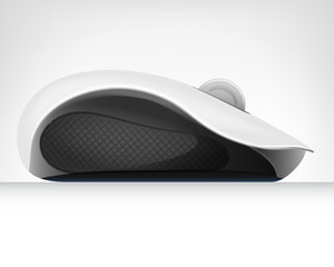 computer mouse in side view isolated object