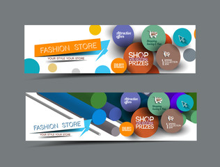 Abstract Fashion Banner Template For Advertising