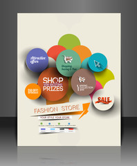 Fahion Shopping Center Flyer Template