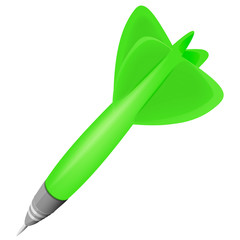 green dart object isolated