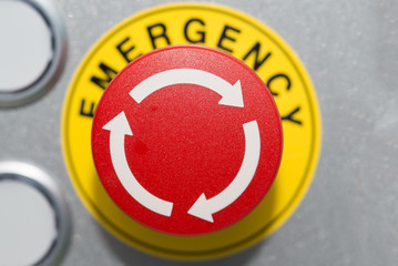 Emergency Button on silver panel