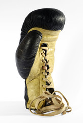 Lace Up Boxing Glove with White Background
