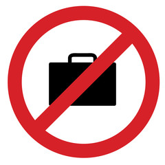 no bag sign board