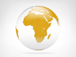 Africa golden planet backdrop view