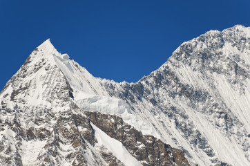 Snowy mountain peak - beauty of nature