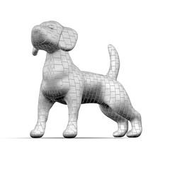 Cane in mattoni grigi