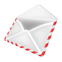 open envelope object perspective view isolated
