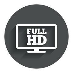 Full hd widescreen tv. High-definition symbol.