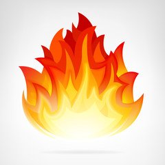 wildfire flame isolated vector element