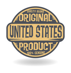 Abstract stamp with text Original Product of United States