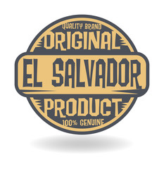 Abstract stamp with text Original Product of El Salvador
