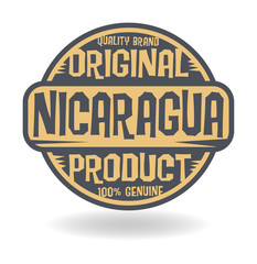 Abstract stamp with text Original Product of Nicaragua