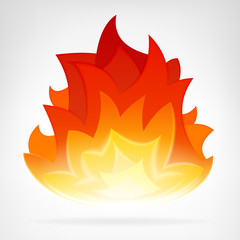 fire flame heat vector element