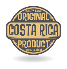 Abstract stamp with text Original Product of Costa Rica