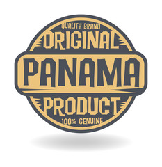 Abstract stamp with text Original Product of Panama