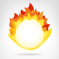 fire flame circle backdrop isolated vector