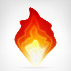 blazing fire flame vector element