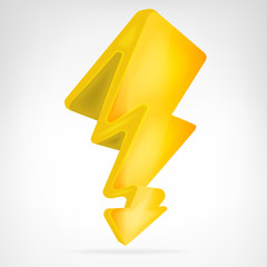 flash strike icon vector isolated