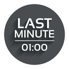Last minute icon. Hot travel symbol.