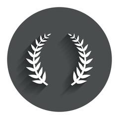 Laurel Wreath sign icon. Triumph symbol.
