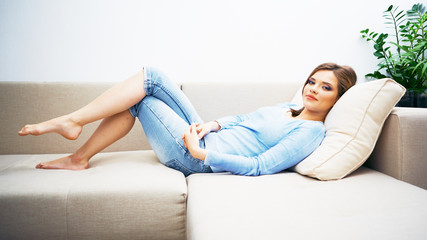 Ypung beautiful woman relaxing
