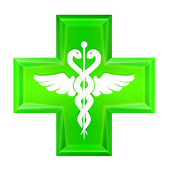 green health cross icon isolated