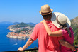 happy couple on vacation in Europe - 70243079