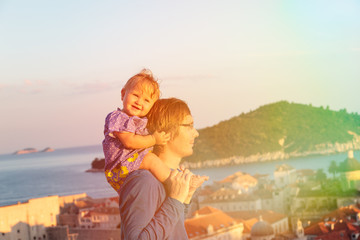 father and daugther on vacation in europe