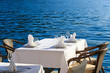 Scenic cafe table withe sea view - 70243218