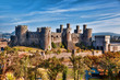 Conwy Castle in Wales, United Kingdom, series of Walesh castles - 70243629