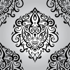 Lion head. Seamless pattern.