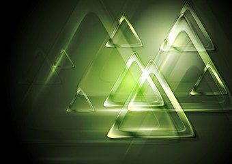 Bright blurred triangle. Tech design