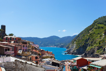 Picturesque view of Vernazza, Laguria, Italy