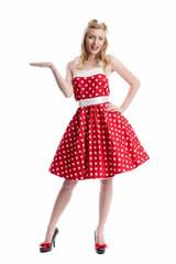 Frau im Rockebilly Kleid