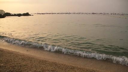 Mediterranean Golden Beach at Dawn