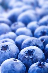 Fresh ripe bilberry close up