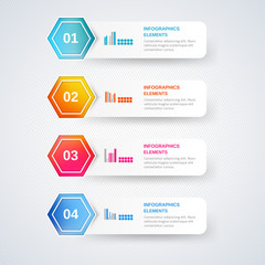 Set of number banners template