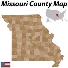 Missouri County Karte