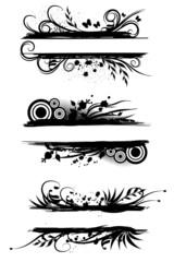 Vector swirl tags