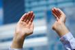 businesswoman hands