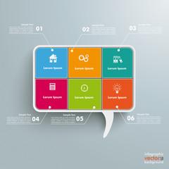 Rectangle Speech Bubble 6 Options