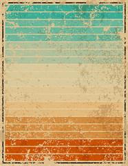 Set of Summer vintage, vector illustration