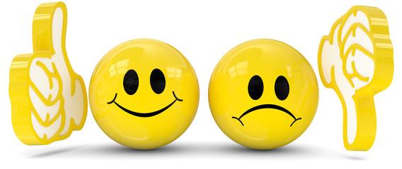 gelbe smileys pro contra