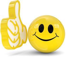 gelbes smiley Daumen hoch