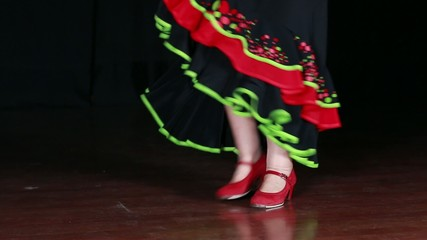 Typical Spanish Flamenco Dance
